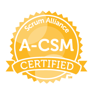 Advanced Certified ScrumMaster certification badge